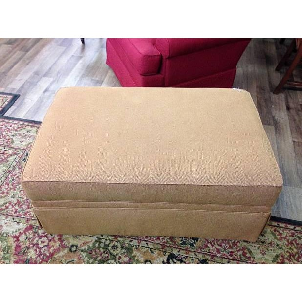Ethan Allen Storage Upholstered Ottoman - Image 2 of 3