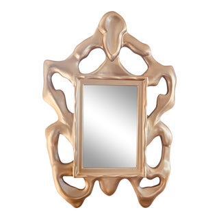 Large Donghia Sculptural Gold Mirror For Sale