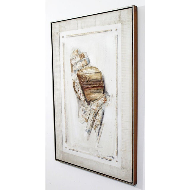 Mid Century Modern Mixed Media Impasto Acrylic Abstract Painting by L. Biro For Sale In Detroit - Image 6 of 10