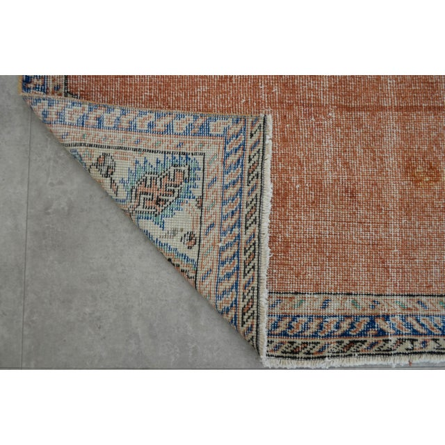 "Turkish Brown Overdyed Hand Knotted Rug - 3'4"" X 6'7"" - Image 8 of 9"