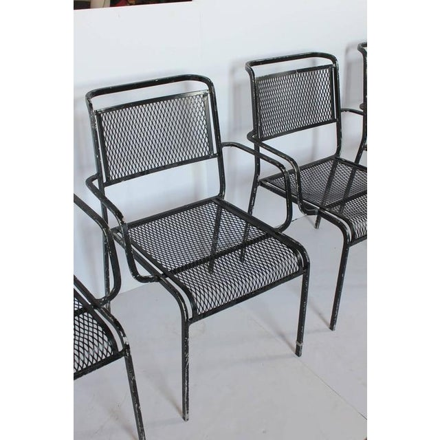 Mid-Century Modern Mid-Century Garden Metal Armchair For Sale - Image 3 of 4