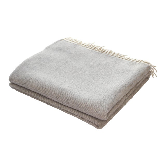 Contemporary Cashmere Collection Linen Throw For Sale