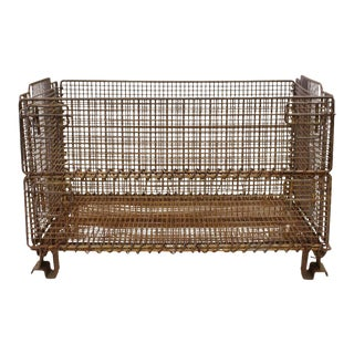 Original American Industrial Collapsible Wire Basket