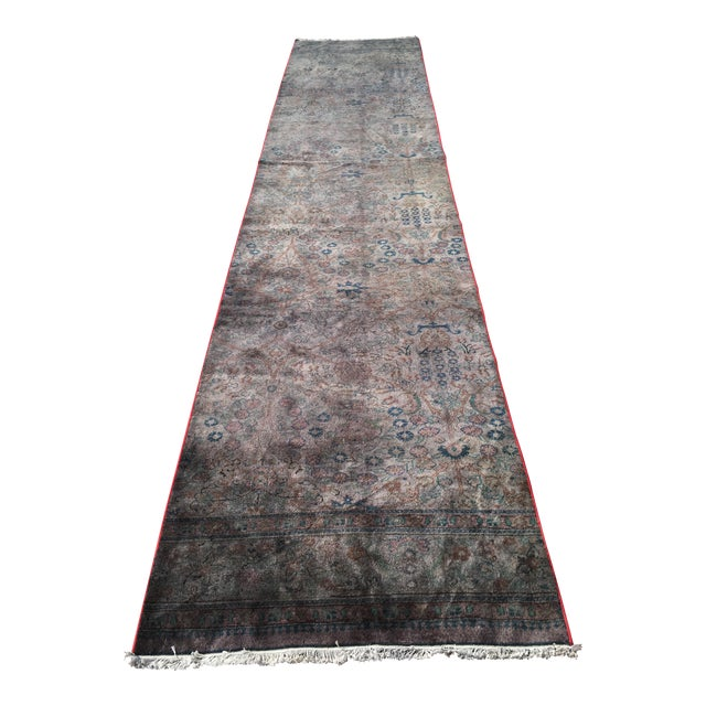 Overdyed Turkish Runner Rug - 2′8″ × 12′8″ - Image 1 of 9