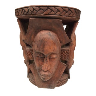 African Carved Wood Baga Stool/Table Guinea For Sale