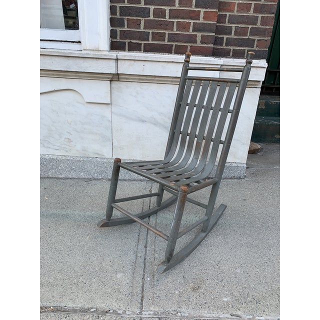 Late 19th Century Late 19th Century Painted Bentwood Rocker For Sale - Image 5 of 5