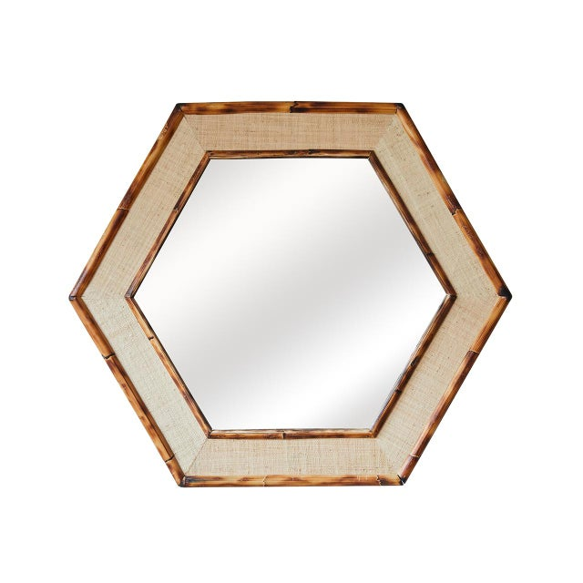 Not Yet Made - Made To Order Jw Limited Edition Custom Line Hexagon Bamboo Mirror For Sale - Image 5 of 5