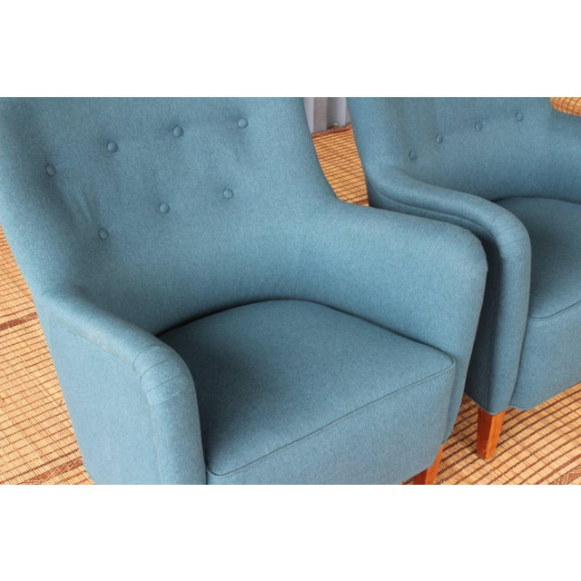 Danish Modern Dark Teal Armchair by Ernest Race, England, 1940s For Sale - Image 3 of 12