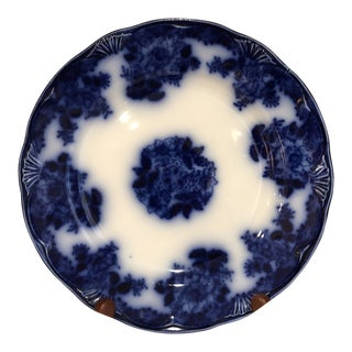 English Traditional Flow Blue Plate For Sale