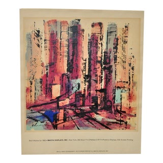 Xanti Schawinsky Vintage Silkscreen by Masta Displays, Inc. c.1963