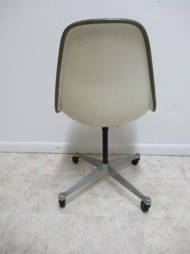 Fiberglass Vintage Herman Miller Green Fiberglass Egg Office Desk Chair For  Sale   Image 7 Of