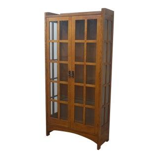 Stickley Mission Oak Display Cabinet For Sale
