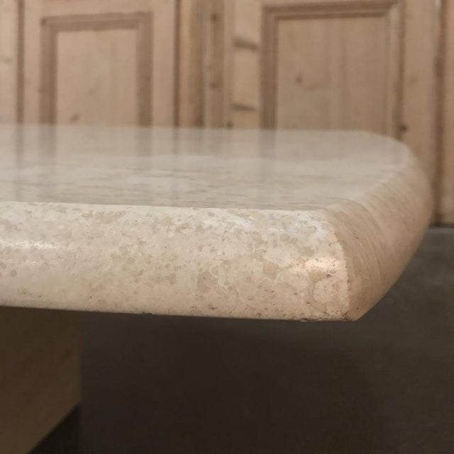 Stone Mid-Century Limestone Coffee Table For Sale - Image 7 of 13