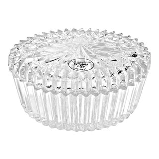 """Vintage Gorham """"Chantilly"""" Oval Lead Crystal Box For Sale"""