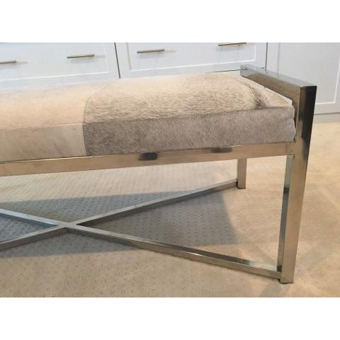 Mohair X-Base Bench/Cocktail Table - Image 7 of 11