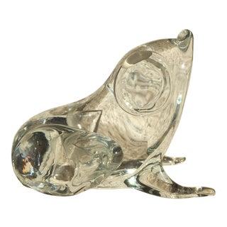 Licio Zanetti Murano Glass Frog Paperweight