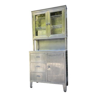 Mid Century WWII Steelcase Dental Cabinet For Sale