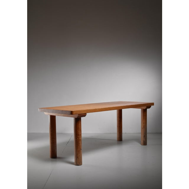 Charlotte Perriand Pine Les Arcs Table, France, 1960s For Sale - Image 6 of 6