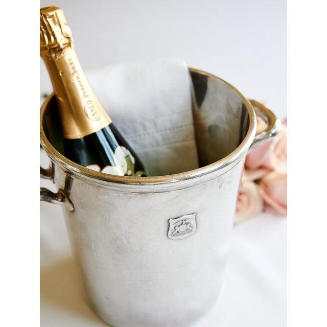 Gorham Vintage Ambassador Hotel, Los Angeles Silver Plate Champagne Bucket For Sale - Image 4 of 9
