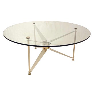 Maxime Old Very Rare Mid-Century Cocktail Table in Aluminum and Glass France 1961 For Sale