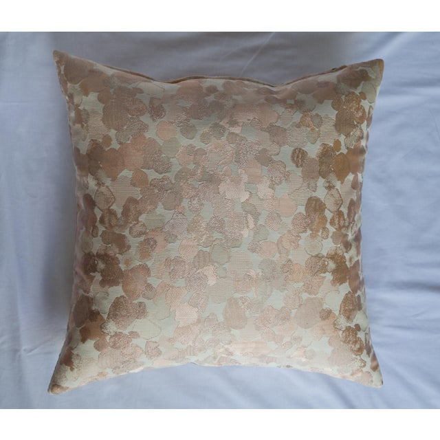 Pink Iridescent Rose Gold Pillow For Sale - Image 8 of 8