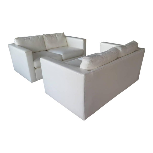 Pair of Classic Minimalist Milo Baughman Settees For Sale