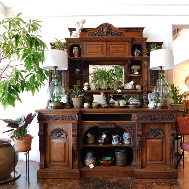 Early 20th Antique European Hutch For Sale - Image 9 of 10