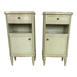 1950s Gustavian Style Nightstands - a Pair For Sale