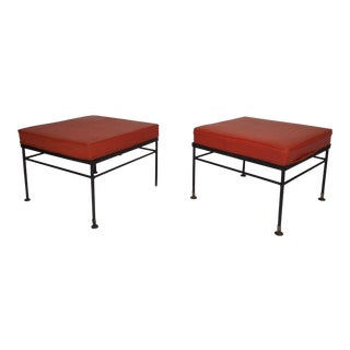 Pair of Mid-Century Modern Foot Stools For Sale