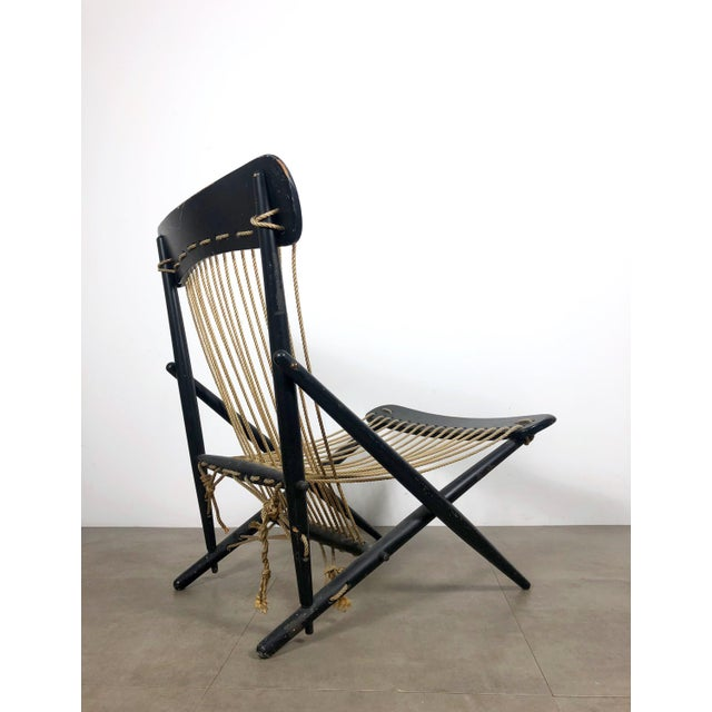 Asian Rare Maruni Rope Lounge Chair, Japan Circa 1950's For Sale - Image 3 of 8