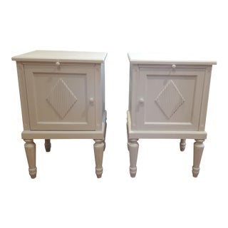 Gustavian Bedside Cabinets - A Pair For Sale