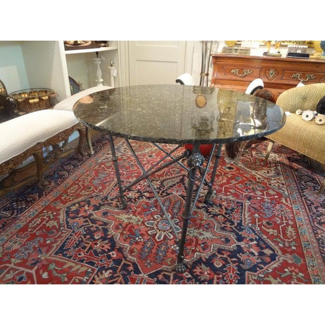 Metal Italian Neoclassical Style Steel and Bronze Center Table After Giacometti For Sale - Image 7 of 13
