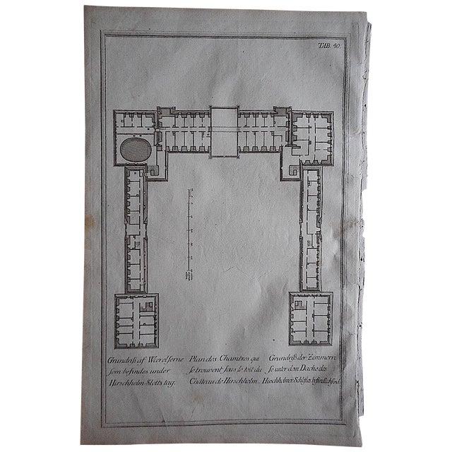 Antique Engraving Floorplan Lg. Folio II - Image 1 of 3
