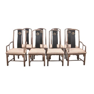 1970s Vintage Henredon Chinoiserie Dining Chairs- Set of 4 For Sale