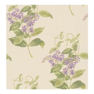 Cole & Son Madras Violet Wallpaper Roll - Olive & Lavender For Sale