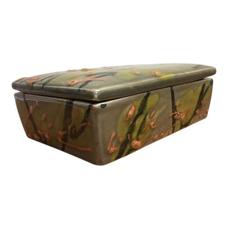Lava Glazed Italian Alvino Bagni Trinket Box For Sale