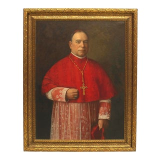 American Religious Priest Portrait Painting For Sale