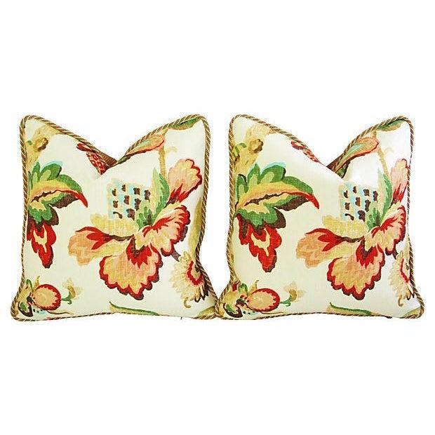 Designer Schumacher Kelmscott Manor Pillows - Pair - Image 7 of 7