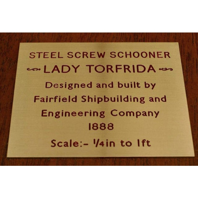 19th C. American Encased Ship Model, Lady of Torfrida, 1888 For Sale - Image 4 of 5