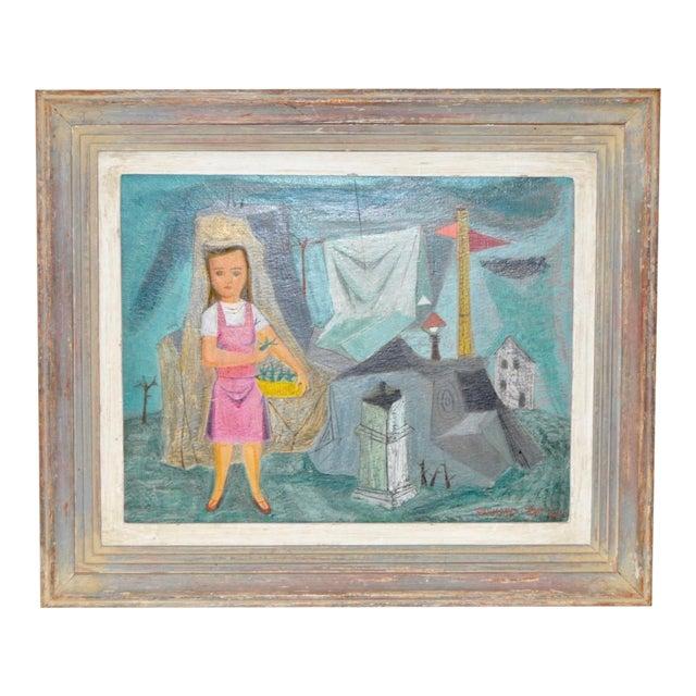 "Raymond Tom ""Domestic Surrealism"" Original Oil Painting c.1947 - Image 1 of 9"