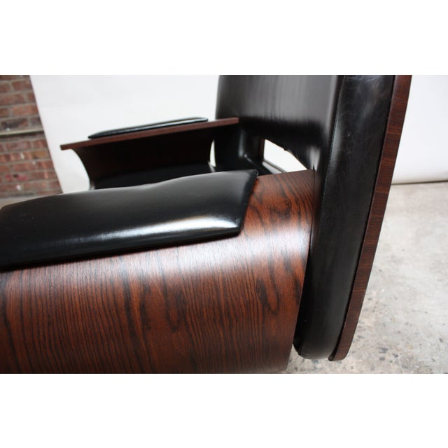Brazilian Modern Jacaranda and Leather Swiveling Lounge Chair by Jorge Zalszupin For Sale - Image 9 of 13