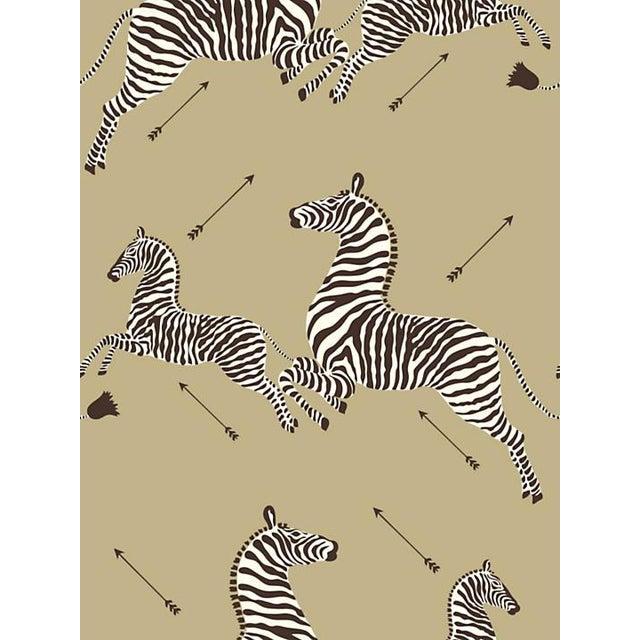 Safari Scalamandre Zebras, Gold Wallpaper For Sale - Image 3 of 3