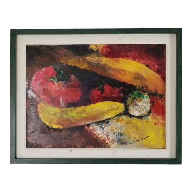 Abstract Painting by Lourdes, Still Life With Fruit For Sale