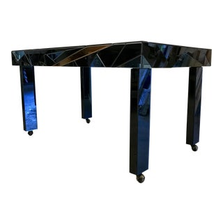 Larry Hodges Blue and Gold Marquetry Table For Sale