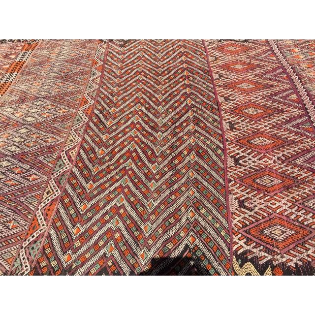 Vintage Moroccan Nomadic African Tribal Rug For Sale - Image 4 of 9