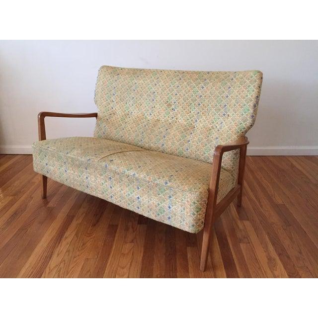 Vintage Mid Century Dux Danish Modern Settee Sofa