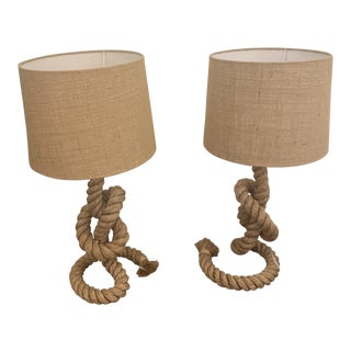 Anthony Baratta Rope Lamps - a Pair For Sale