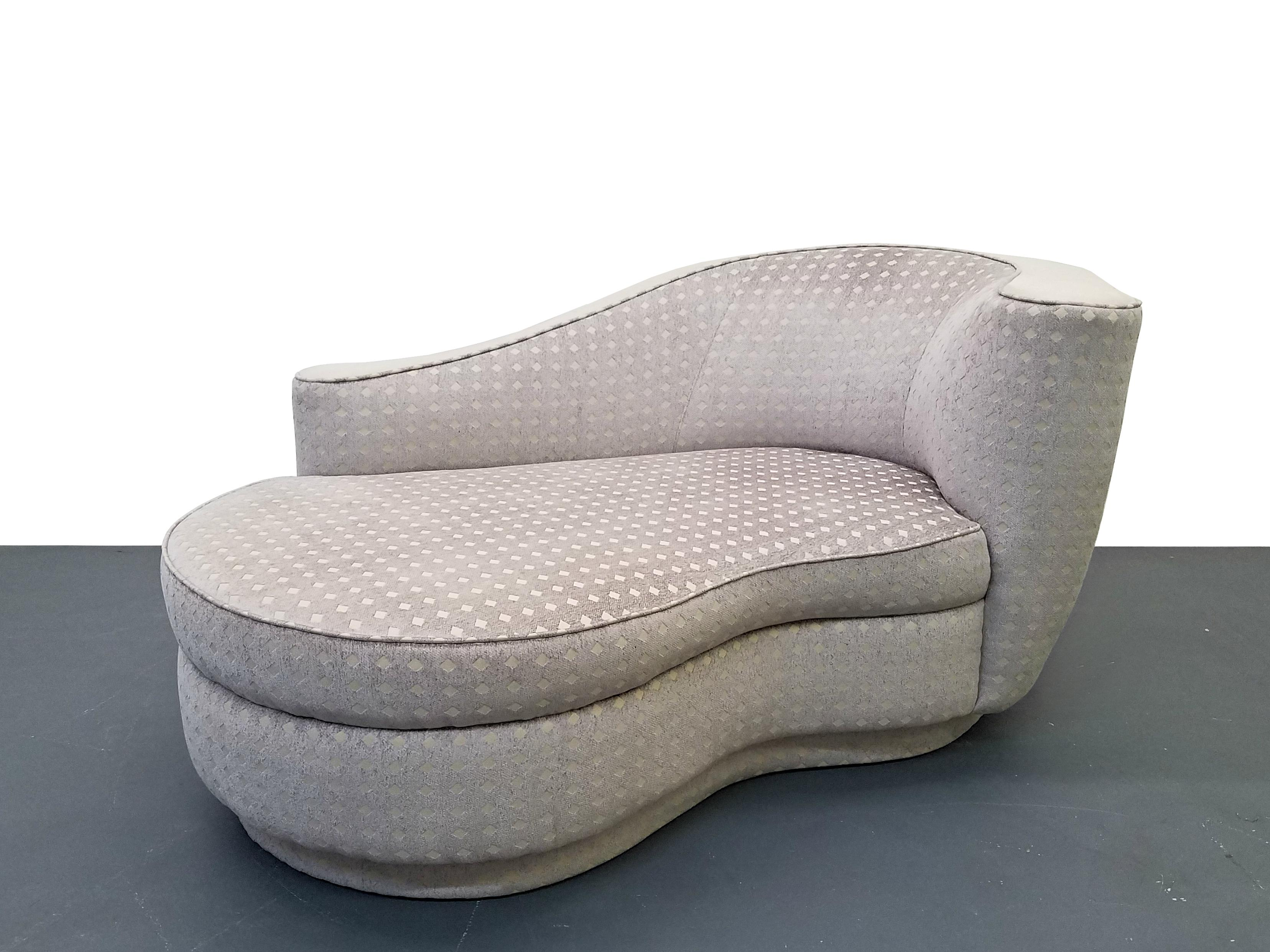 Bon Funky Chaise In The Style Of Vladimir Kagan. Similar To The Nautilus Line.  Beautiful
