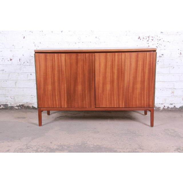 Paul McCobb for Calvin Irwin Collection Mahogany Sideboard Credenza, Newly Restored For Sale - Image 13 of 13
