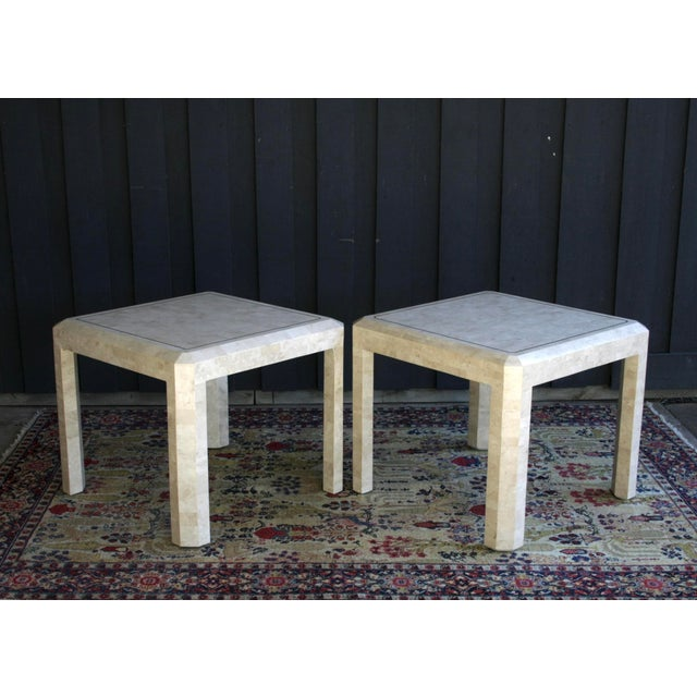 Maitland Smith Tessellated Marble Tables A Pair